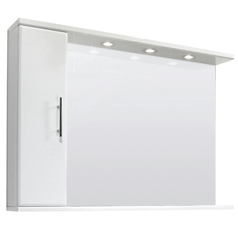 Premier Delaware High Gloss White Illuminated Mirror Cabinet W1050 x D170mm - VTY028 Large Image