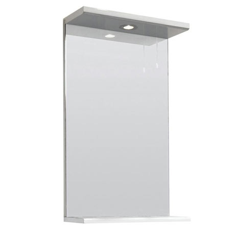Premier Delaware High Gloss White Illuminated Mirror W450 x D170mm - VTY030
