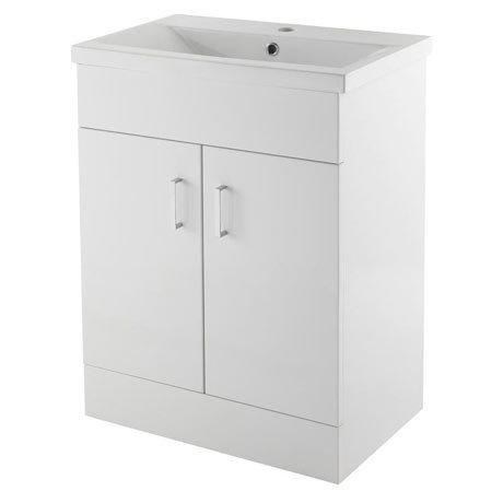 Premier Eden Minimalist Gloss White Vanity Unit W600 x D400mm - VTNB600