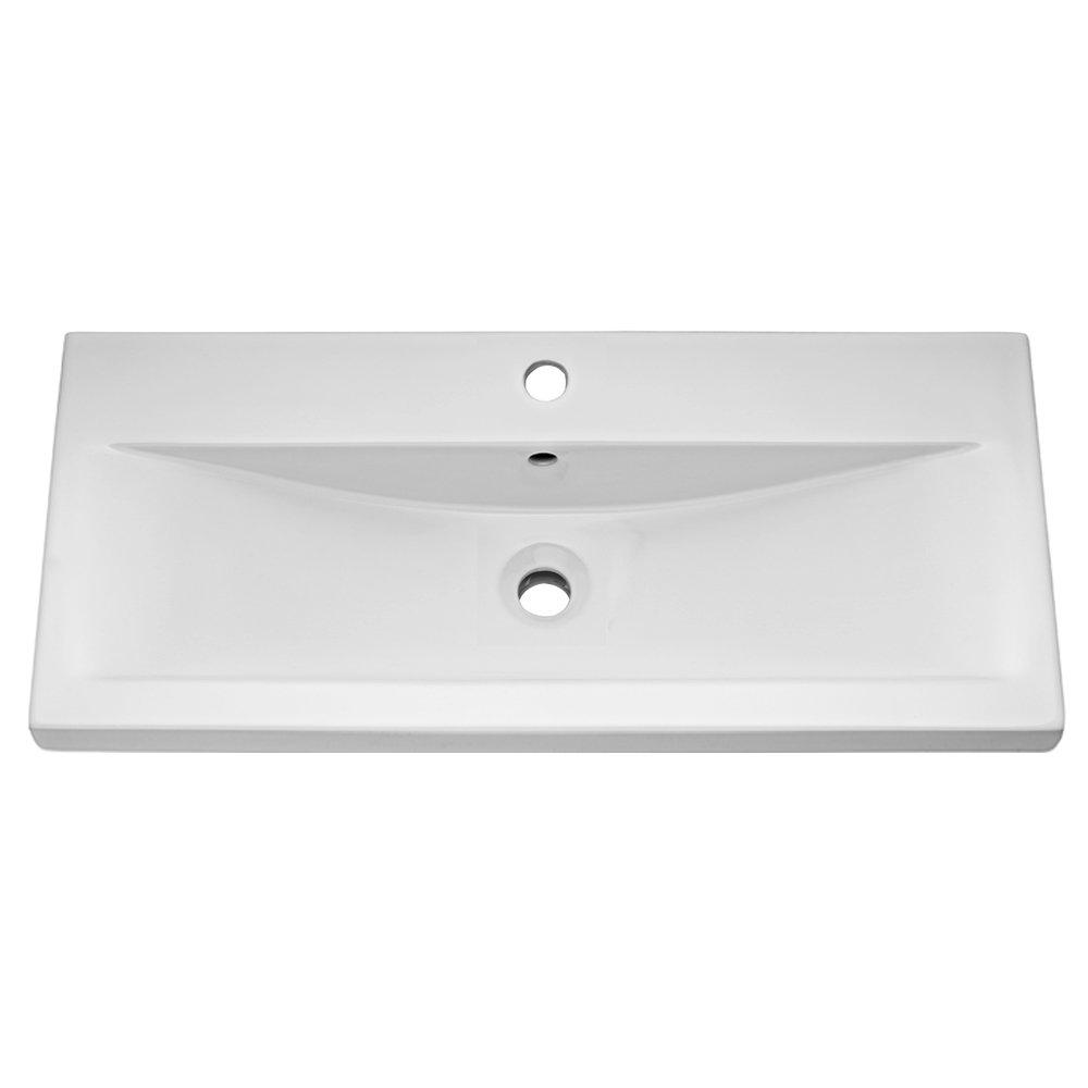 Premier Eden Minimalist Gloss White Vanity Unit W800 x D400mm - VTNB800 profile large image view 2
