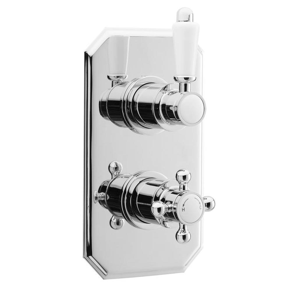 Premier Edwardian Twin Concealed Thermostatic Shower Valve - ITY316 profile large image view 1