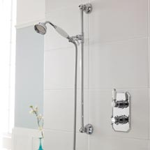Premier Edwardian Twin Concealed Thermostatic Shower Valve & Slider Rail Kit Medium Image