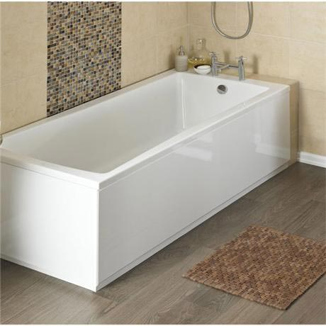 nuie high gloss mdf front bath panels - white - various