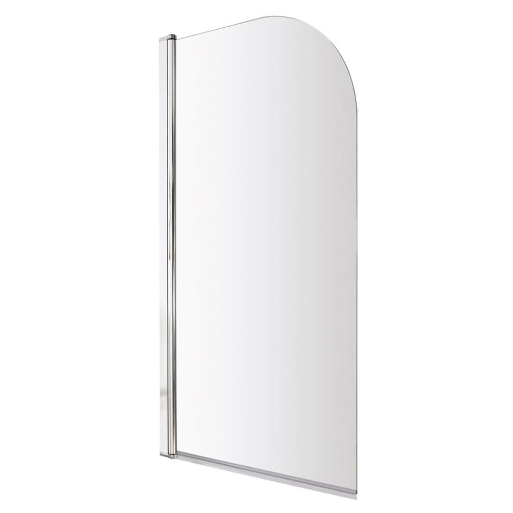 Premier Hinged Curved Top Bath Screen (790 x 1400mm) profile large image view 1
