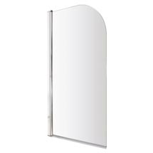 Premier Hinged Curved Top Bath Screen (790 x 1400mm) - NSS1 Medium Image