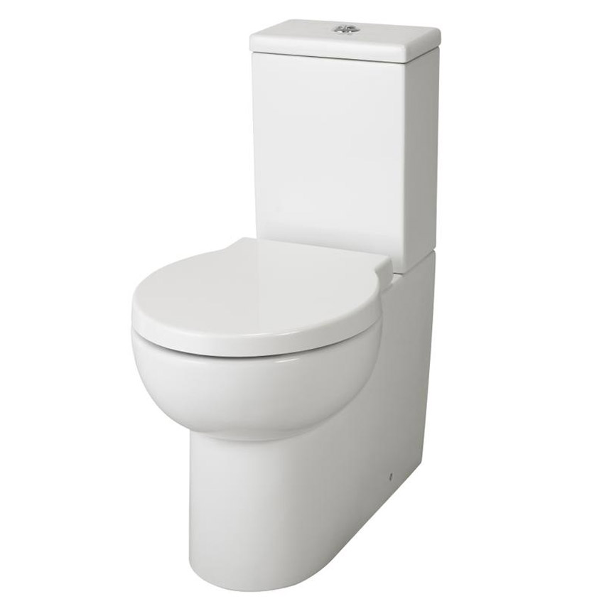 Premier - Holstein Flush To Wall Pan & Cistern and Soft Close Seat Large Image