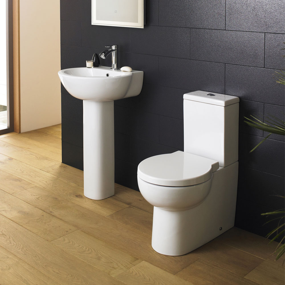 Premier Holstein Flush To Wall Toilet + Soft Close Seat  Profile Large Image