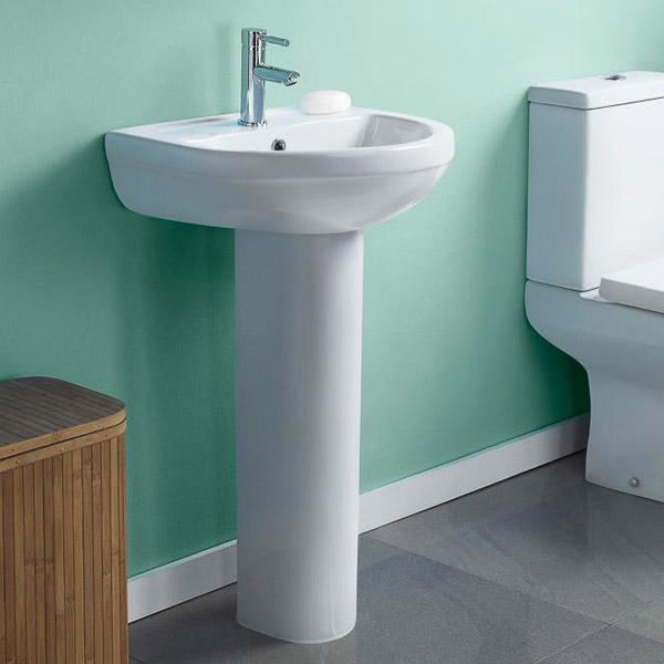 Premier - Ivo Basin 1TH with Full Pedestal - 2 Size Options profile large image view 2