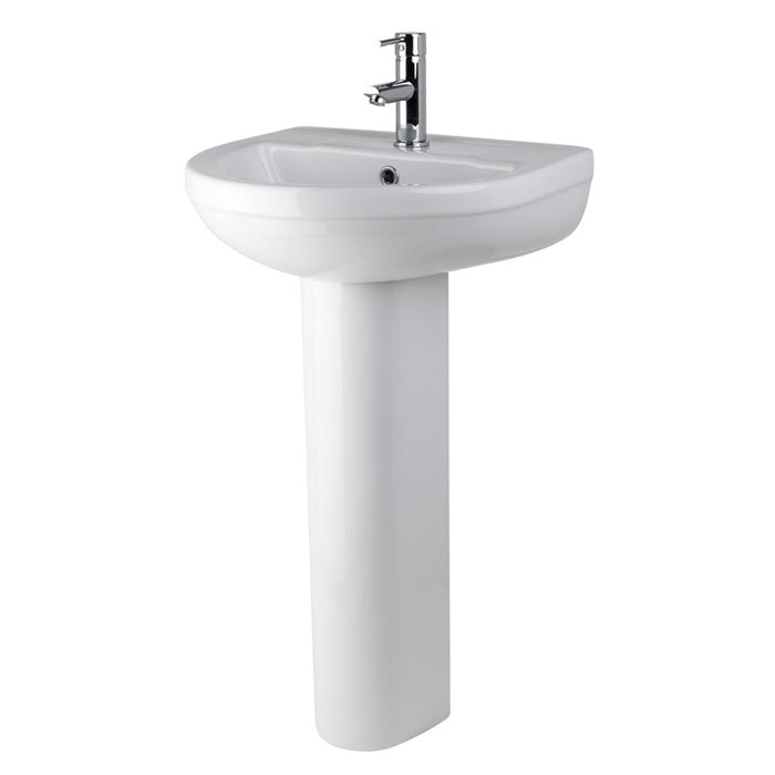 Premier - Ivo Basin 1TH with Full Pedestal - 2 Size Options profile large image view 1