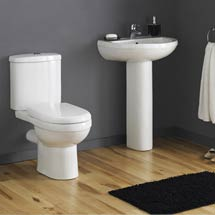 Premier - Ivo Ceramic 4 Piece Bathroom Suite - 1 or 2 Tap Holes Medium Image