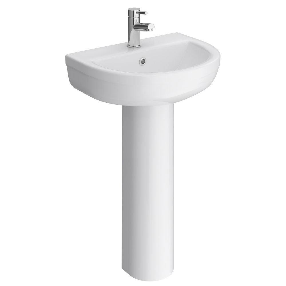 Premier Ivo Ceramic 4 Piece Bathroom Suite - 1 or 2 Tap Holes profile large image view 3