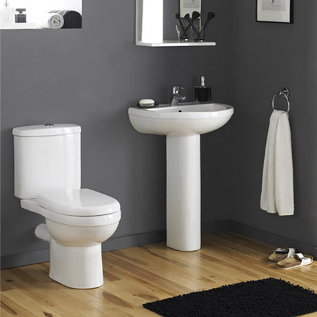 Premier Ivo Ceramic 4 Piece Bathroom Suite - 1 or 2 Tap Holes