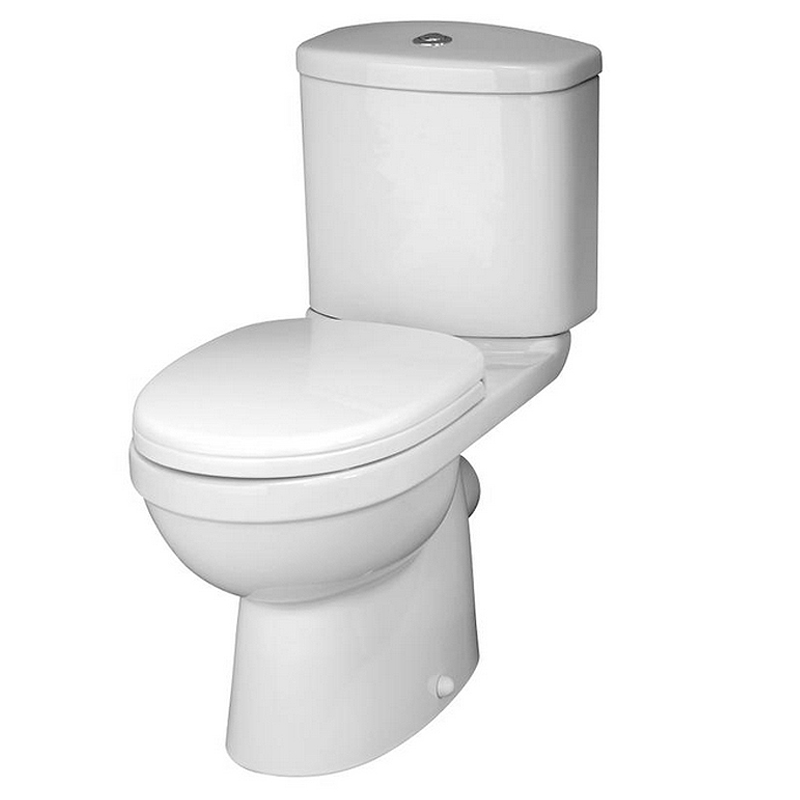 Premier - Ivo Ceramic Close Coupled Toilet with Soft-close Seat Large Image