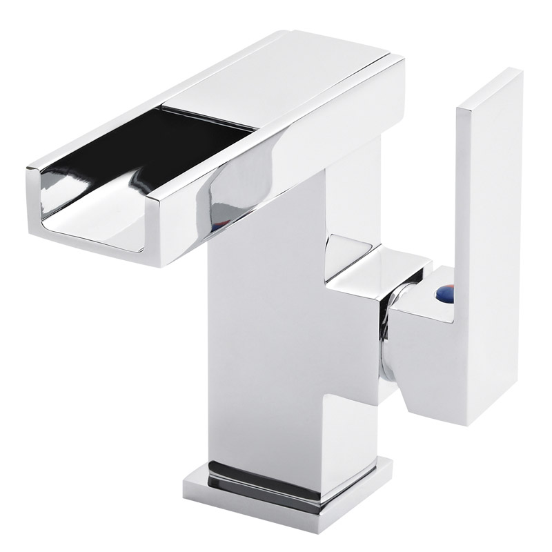 Ultra LED Side Action Cloakroom Mono Basin Mixer Inc. Waste - MIN385 Large Image
