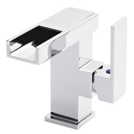 Ultra LED Side Action Cloakroom Mono Basin Mixer Inc. Waste - MIN385