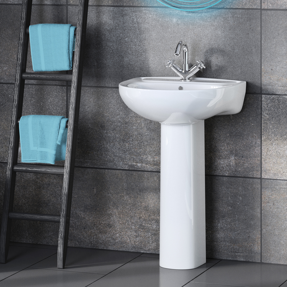 Premier Lawton 550mm Basin with Full Pedestal Profile Large Image
