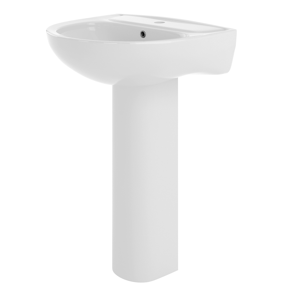 Premier Lawton 550mm Basin with Full Pedestal profile large image view 1