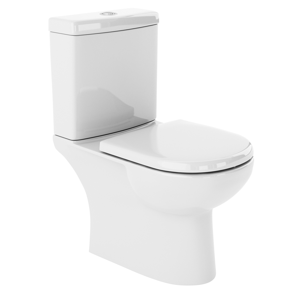 Premier Lawton Close Coupled Toilet with Soft Close Seat Large Image