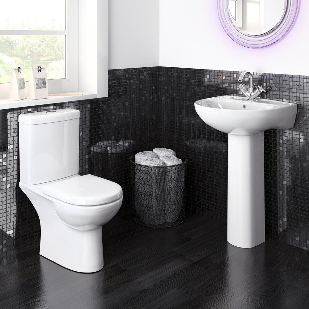 Premier Lawton Compact 4-Piece Bathroom Suite Large Image