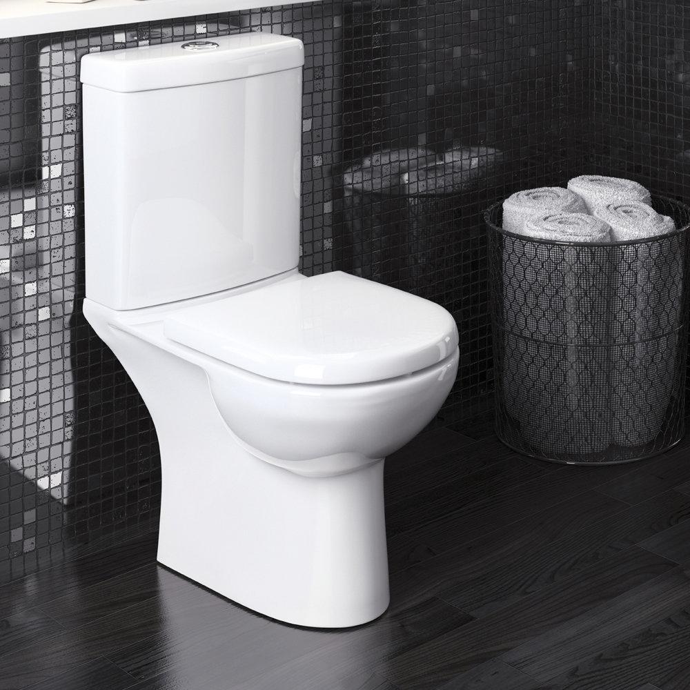 Premier Lawton Compact Toilet with Soft Close Seat profile large image view 2
