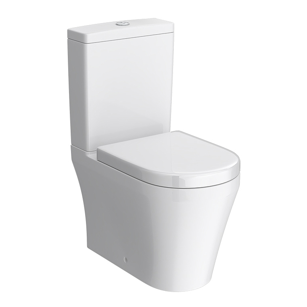 Toronto BTW Close Coupled Toilet with Soft-Close Seat Large Image