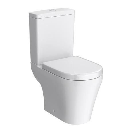 Toronto Modern Close Coupled Toilet with Soft Close Seat (Semi BTW)