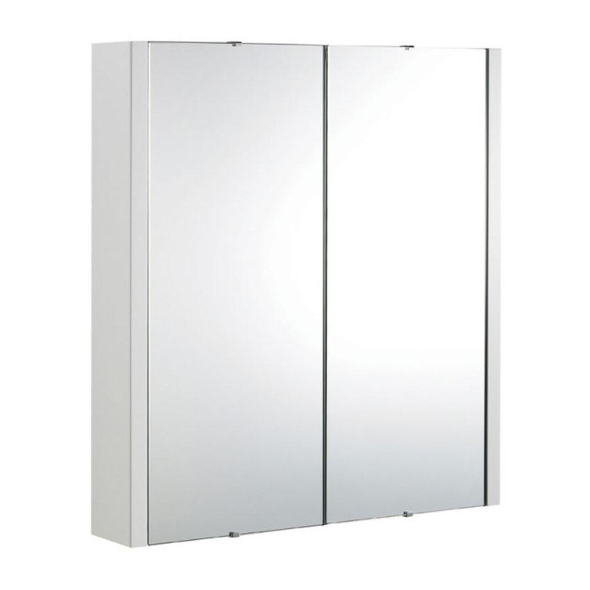 Premier Minimalist 2-Door Bathroom Mirror Cabinet (Width 617mm) VTY052 Large Image