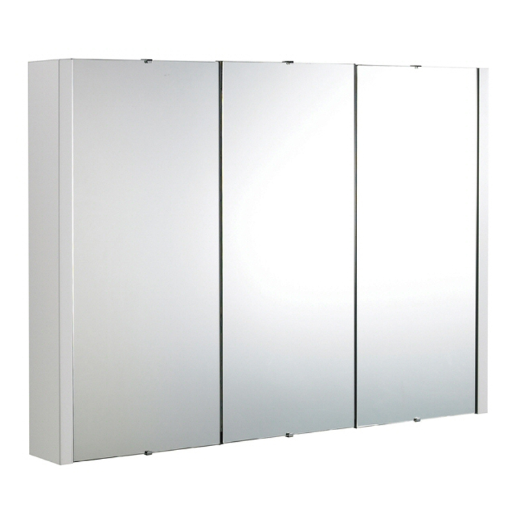 Premier Minimalist 3-Door Bathroom Mirror Cabinet (Width 900mm) VTY055 profile large image view 1