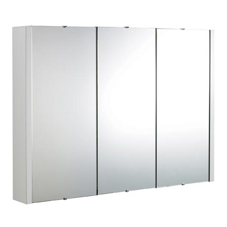 Premier Minimalist 3-Door Bathroom Mirror Cabinet (Width 900mm) VTY055
