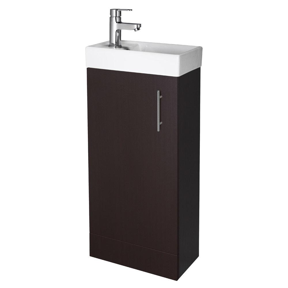 Premier - Minimalist Compact Floor Standing Basin Unit W400 x D222mm - Ebony - NVX392 Large Image