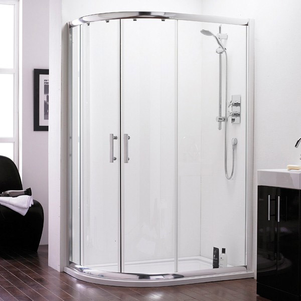 Premier - Pacific Offset Quadrant Shower Enclosure Only - Various Sizes Profile Large Image