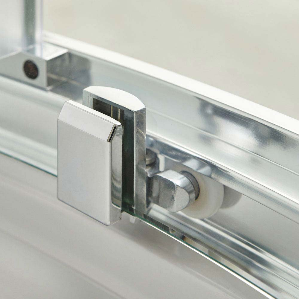 Premier Pacific Sliding Shower Door - Various Size Options  In Bathroom Large Image