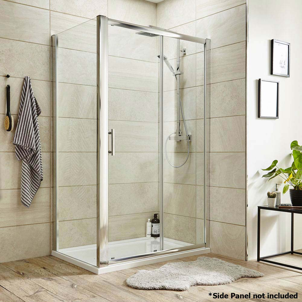 Premier Pacific Sliding Shower Door - Various Size Options  additional Large Image