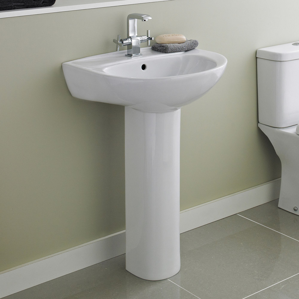 Premier - Perth 550 Basin 1TH with Pedestal - NCS102-NCS103 profile large image view 2