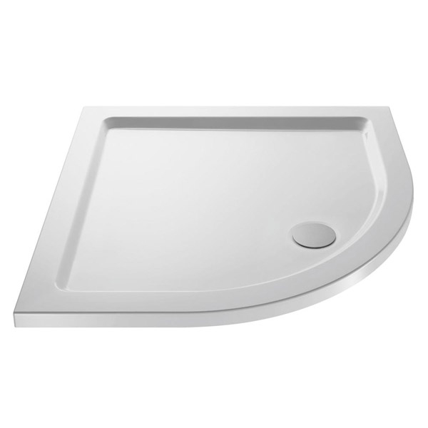 Premier - Quadrant Acrylic Capped Pearlstone Shower Tray with waste - 900 x 900 x 40mm Large Image