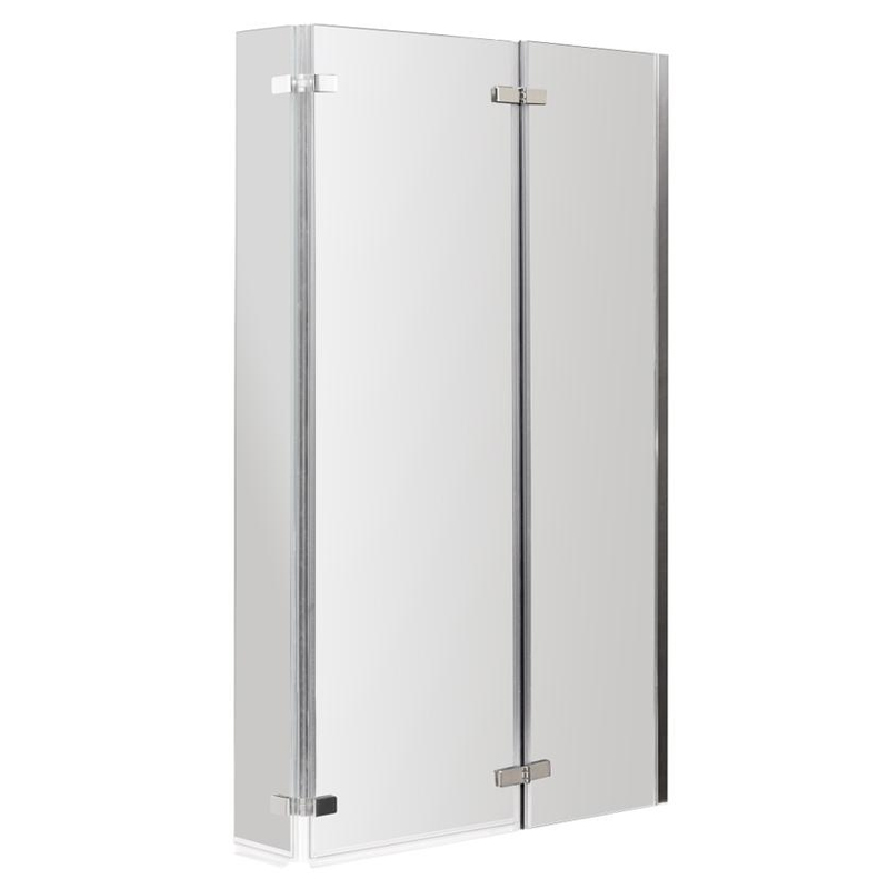 Premier Quattro 1400mm High Double Hinged Bath Screen - NSBS3 Large Image