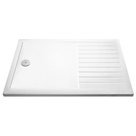 Premier Rectangular 40mm ABS Capped Acrylic Walk-In Shower Tray with Drying Area