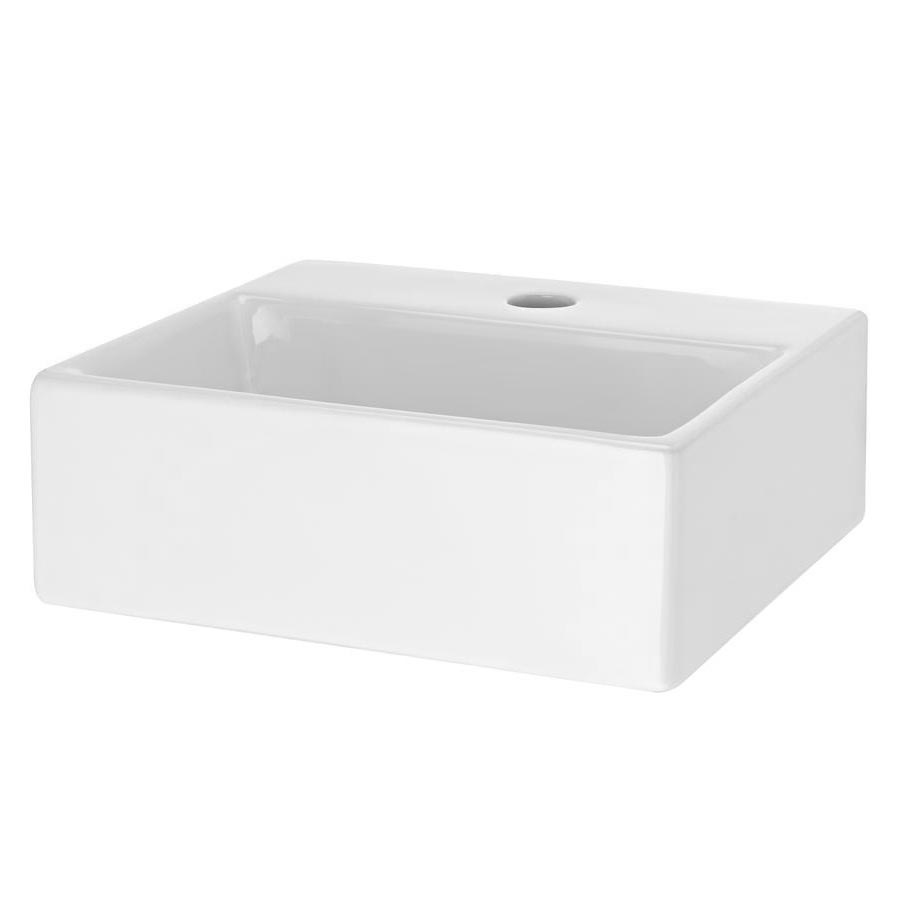 Premier Rectangular Small Counter Top Basin 1TH 335 x 295mm - NBV106 Large Image