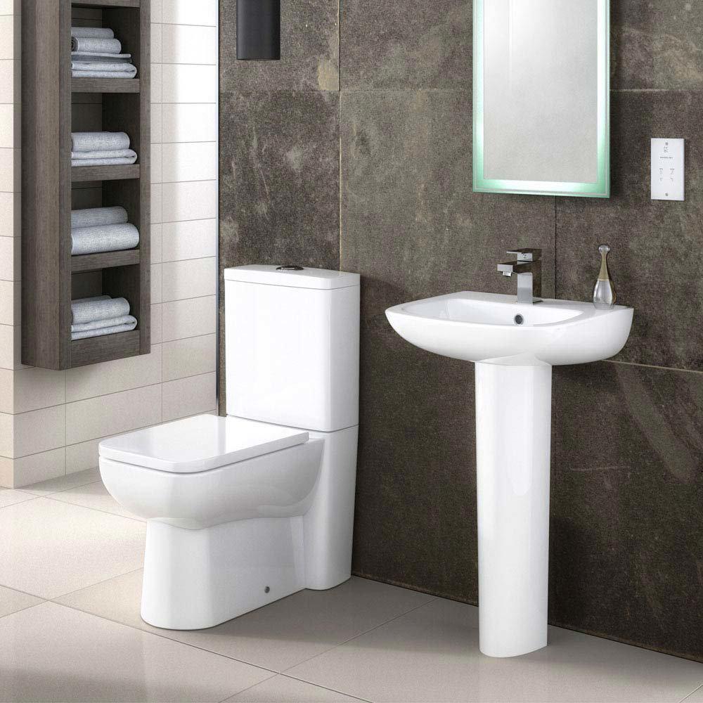 Premier Renoir Compact BTW Toilet + Soft Close Seat  Profile Large Image