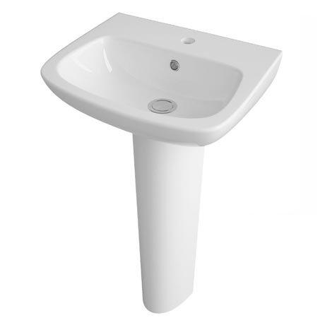 Premier Renoir Compact Basin & Full Pedestal - 1 Tap Hole