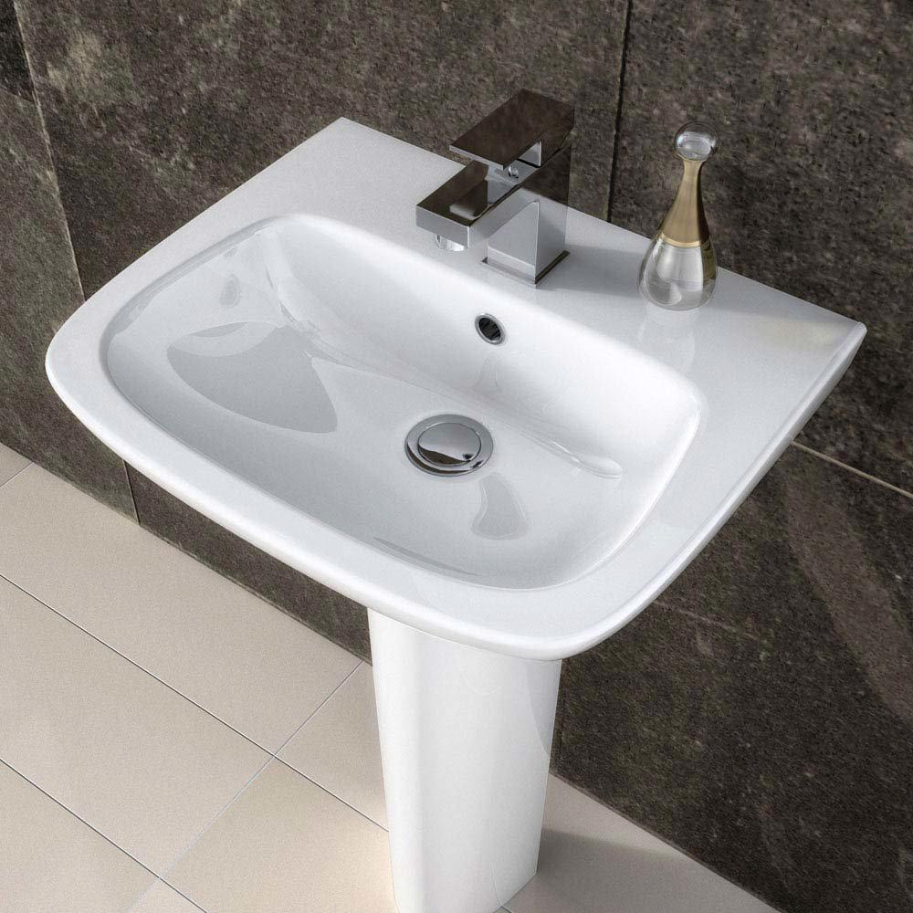 Premier Renoir Compact Basin & Full Pedestal - 1 Tap Hole  Profile Large Image