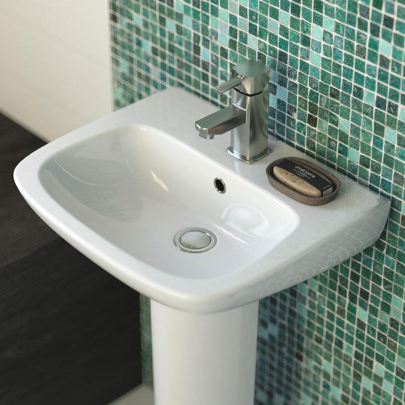 Premier Renoir Compact Basin & Semi Pedestal - 1 Tap Hole profile large image view 2