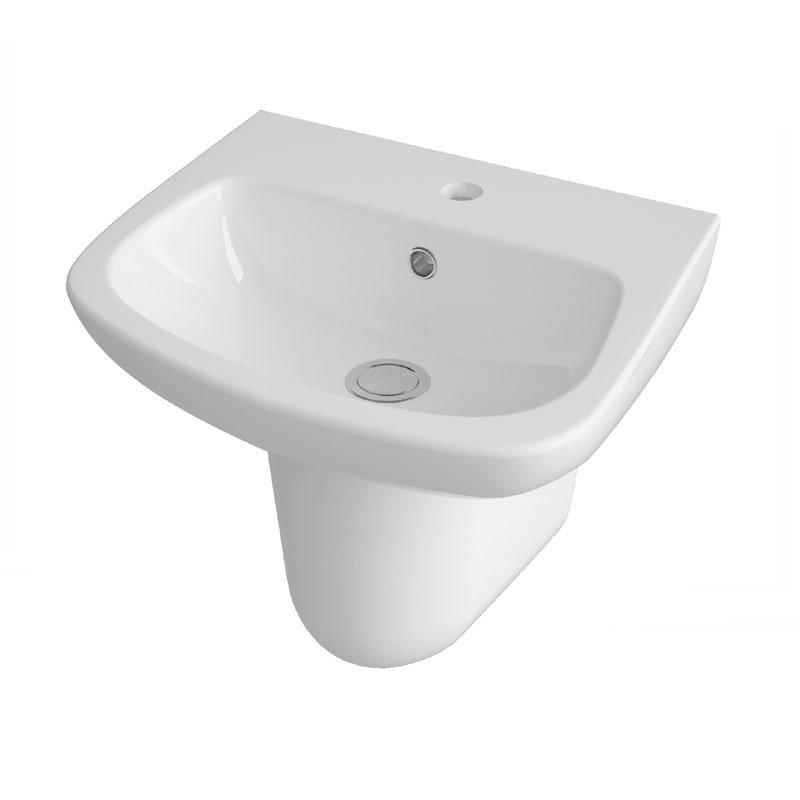 Premier Renoir Compact Basin & Semi Pedestal - 1 Tap Hole Large Image