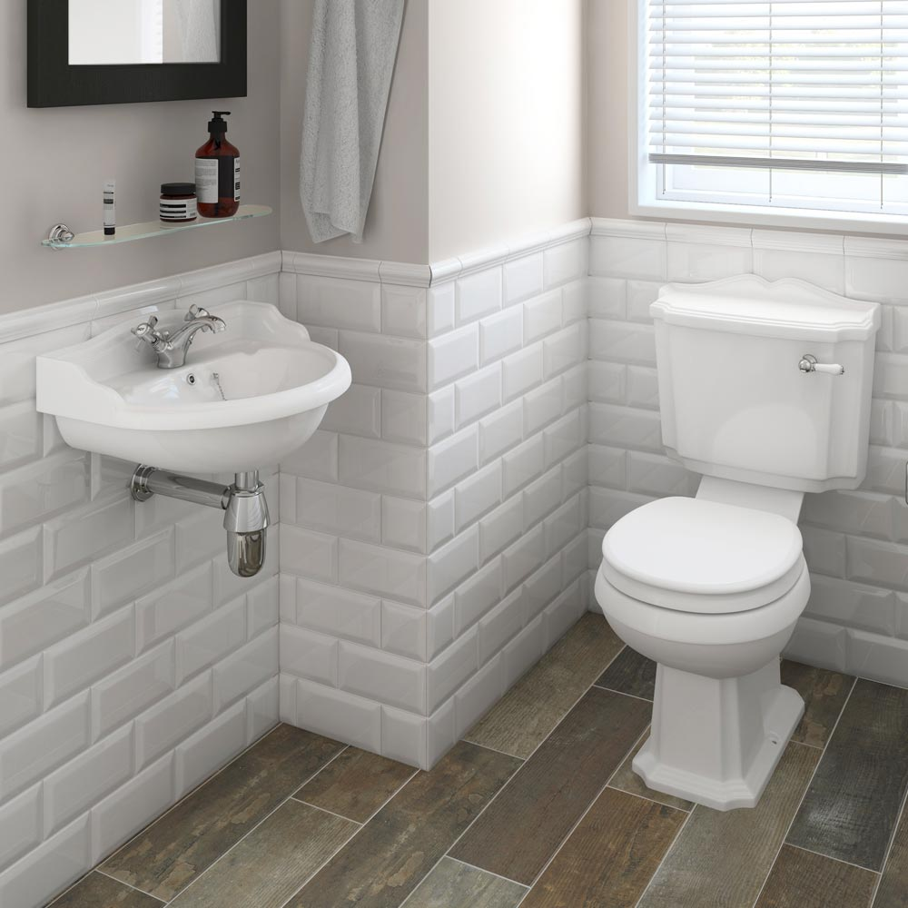 Premier Ryther Wall Hung Cloakroom Basin (500mm Wide - 1 Tap Hole) NCA104 profile large image view 2