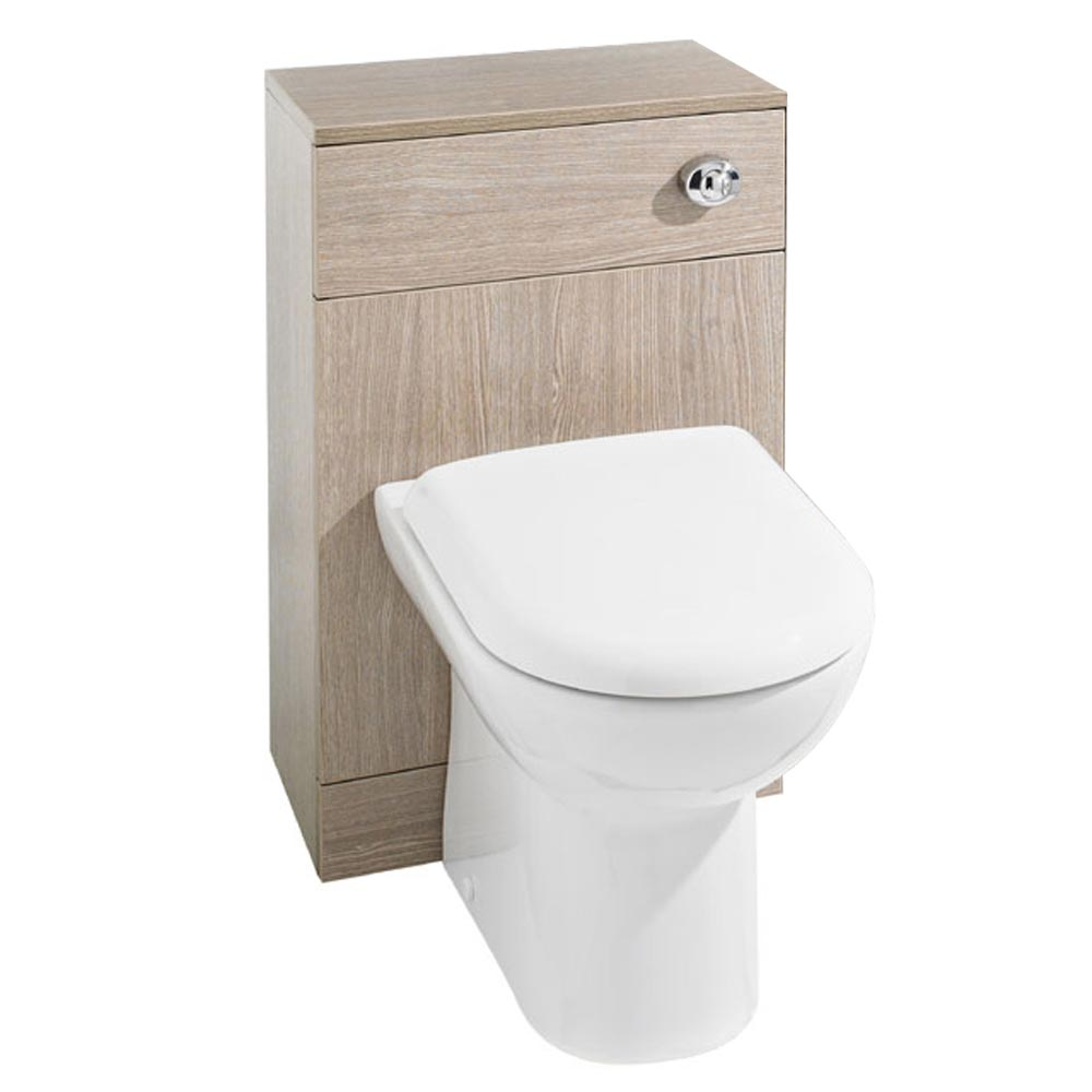 Premier Saturn Oak WC Unit + Cistern (500 x 300mm) profile large image view 1