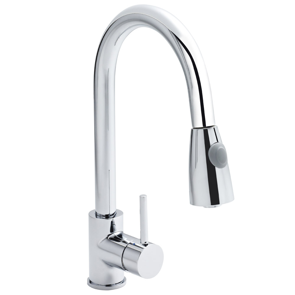 Ultra Side Action Pull Out Rinser Kitchen Tap - KC318 Large Image