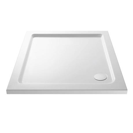 Premier - Square Acrylic Capped Pearlstone Shower Tray with waste - 760 x 760 x 40mm
