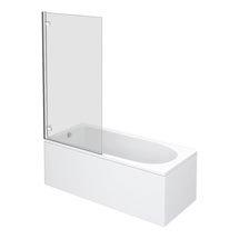 Premier Square Hinged Barmby Shower Bath Medium Image