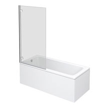 Premier Square Hinged Linton Shower Bath Medium Image