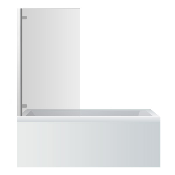 Premier - Square Hinged Linton Shower Bath Large Image